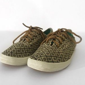 Argyle Canvas Flat Lace Up KEDS MADEWELL Collab